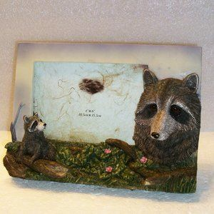 """3D Raccoon Picture Frame 4"""" X 6"""" Heavy Weight"""